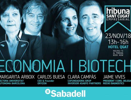 Economia i biotecnologia a debat, en la nova edició del Tribuna Sant Cugat Empresarial