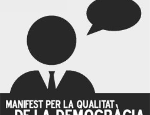 Sant Cugat Empresarial s'adhereix al Manifest per la Qualitat de la Democràcia