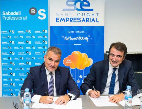 """Joan Franquesa: """"Estem cobrint una necessitat del món econòmic santcugatenc i Banc Sabadell ho veu"""""""