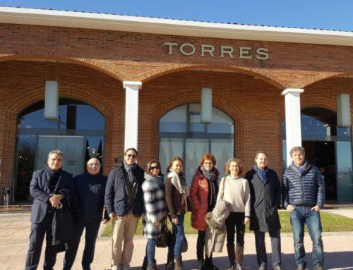 Visita institucional de la junta directiva de Sant Cugat Empresarial a Cellers Torres
