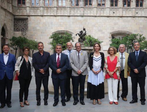 El president Quim Torra rep, en visita institucional, a l'Associació Sant Cugat Empresarial al Palau de la Generalitat