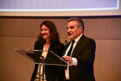 Mercè Conesa i Joan Franquesa a l'Assemblea de Sant Cugat Empresarial