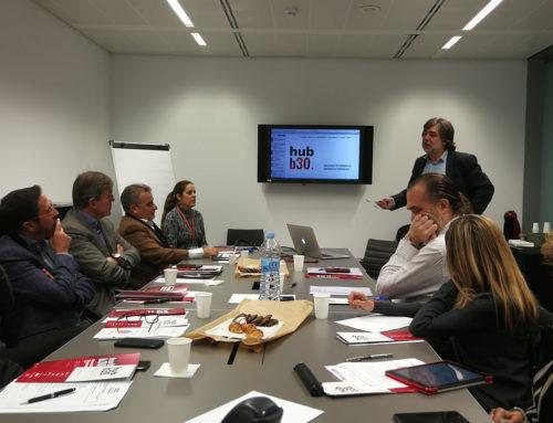 Sant Cugat Empresarial rep la visita de representants de la plataforma HUB B30