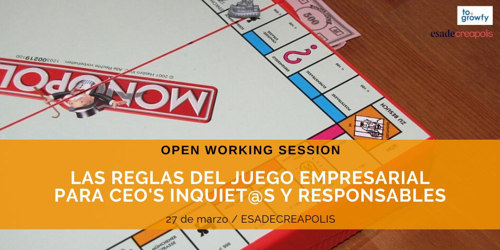Open Working Session regles del joc empresarial