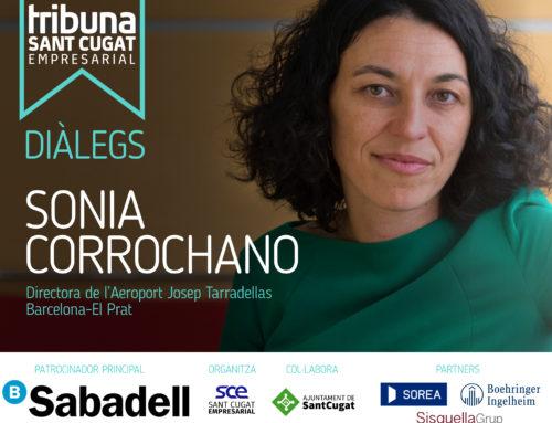 La directora de l'Aeroport del Prat, Sonia Corrochano, ponent de la nova edició de 'Diàlegs- Tribuna Sant Cugat Empresarial'