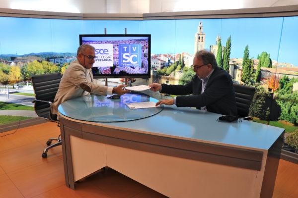 Sant Cugat Empresarial i TV Sant Cugat signen un acord amb l'objectiu de donar a conèixer les activitats de l'associació
