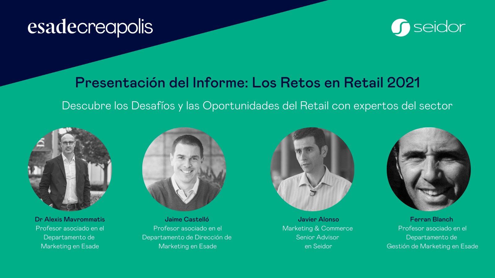 Seidor i Esade Creapolis presenten l'informe 'Reptes en retail 2021', un estudi que analitza l'estat del sector