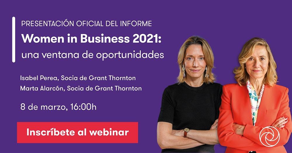 Presentació oficial de l'Informe Women in Business 2021