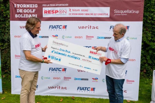Èxit del 1r Torneig de Golf Solidari de la Creu Roja organitzat per Sisquella Grup