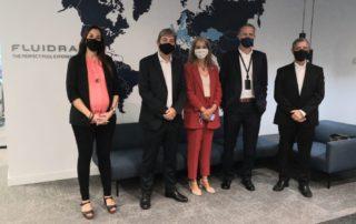 Sant Cugat Empresarial realitza una visita institucional a l'empresa Fluidra