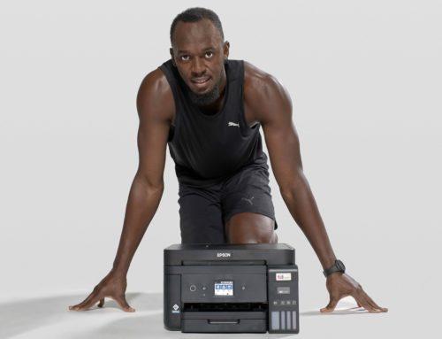 Epson i Usain Bolt signen un acord de col·laboració per a promoure la impressió sense cartutxos